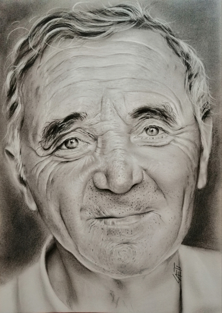 Charles Aznavour by stellina